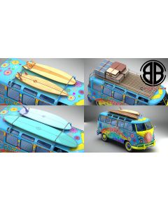Volkswagen T1 Samba HIPPIE 1963 Accessories